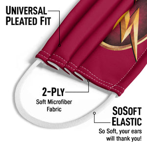 The Flash: TV Series Chest Logo Kids Universal Pleated Fit, 2-Ply, SoSoft Elastic Earloops