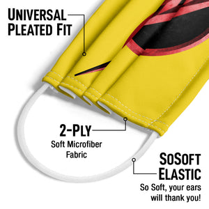 The Flash: TV Series Reverse Flash Logo Adult Universal Pleated Fit, 2-Ply, SoSoft Elastic Earloops
