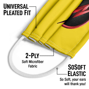 The Flash: TV Series Reverse Flash Logo Kids Universal Pleated Fit, 2-Ply, SoSoft Elastic Earloops