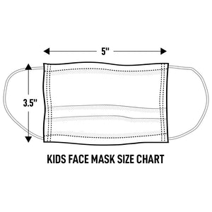 "Kids Cloth Face Mask Size: 3.5"" height, 5"" width"