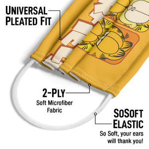 Garfield Many Faces Adult Universal Pleated Fit, 2-Ply, SoSoft Elastic Earloops