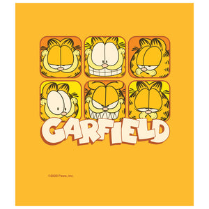 Load image into Gallery viewer, Garfield Many Faces Kids Mask Design Full View