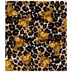 Load image into Gallery viewer, Garfield Wild Cat Leopard Pattern Kids Mask Design Full View