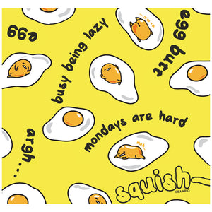 Load image into Gallery viewer, Gudetama Egg Yolk Pattern Adult Mask Design Full View
