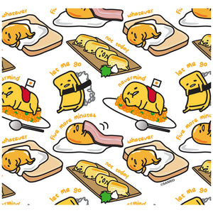 Load image into Gallery viewer, Gudetama Food Pattern Adult Mask Design Full View