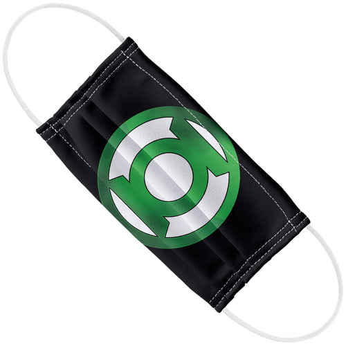 Green Lantern Green Chrome Logo Adult Flat View