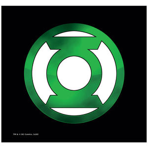 Green Lantern Green Chrome Logo Adult Mask Design Full View