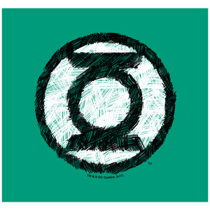 Green Lantern Scribble Lantern Logo Adult Mask Design Full View
