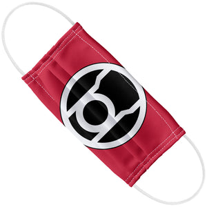 Green Lantern Red Lantern Logo Adult Flat View