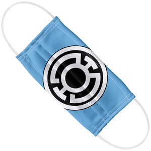 Green Lantern Blue Lantern Logo Adult Flat View