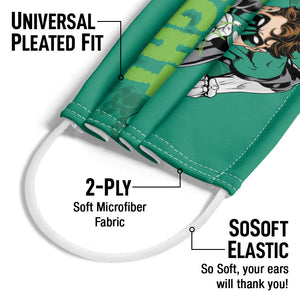 Green Lantern No Evil Adult Universal Pleated Fit, 2-Ply, SoSoft Elastic Earloops