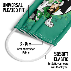Green Lantern Ring First Adult Universal Pleated Fit, 2-Ply, SoSoft Elastic Earloops
