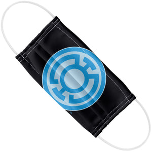 Green Lantern Blue Symbol Adult Flat View