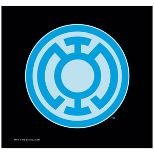 Green Lantern Blue Symbol Adult Mask Design Full View