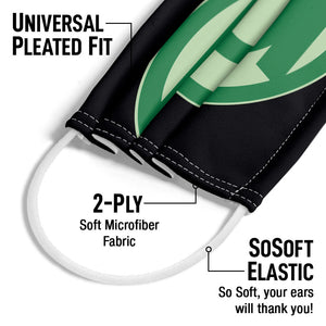 Green Lantern Green Symbol Adult Universal Pleated Fit, 2-Ply, SoSoft Elastic Earloops