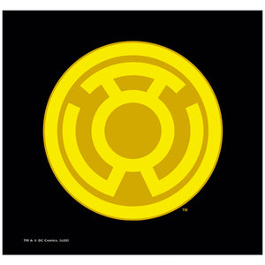 Load image into Gallery viewer, Green Lantern Yellow Symbol Adult Mask Design Full View