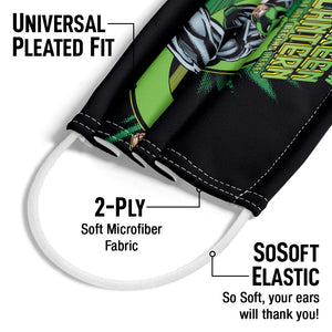 Green Lantern Rayner Cover Adult Universal Pleated Fit, 2-Ply, SoSoft Elastic Earloops