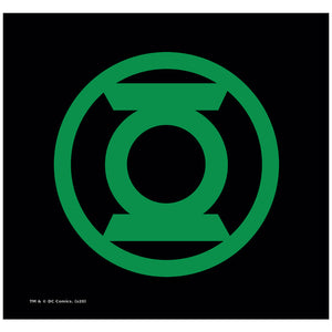 Load image into Gallery viewer, Green Lantern Green Emblem Adult Mask Design Full View