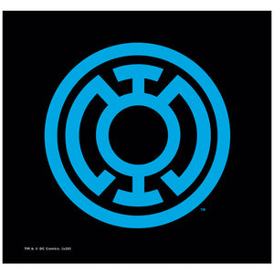 Load image into Gallery viewer, Green Lantern Light Blue Emblem Adult Mask Design Full View