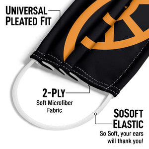 Load image into Gallery viewer, Green Lantern Orange Emblem Adult Universal Pleated Fit, 2-Ply, SoSoft Elastic Earloops