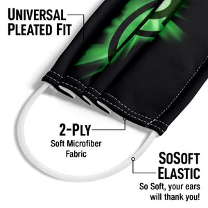 Green Lantern Green Glow Adult Universal Pleated Fit, 2-Ply, SoSoft Elastic Earloops