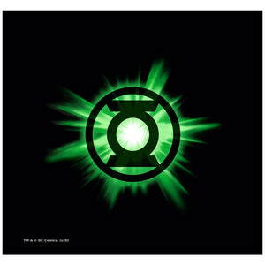 Green Lantern Green Glow Adult Mask Design Full View