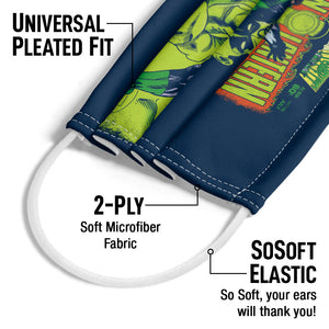 Green Lantern Vintage Cover Adult Universal Pleated Fit, 2-Ply, SoSoft Elastic Earloops