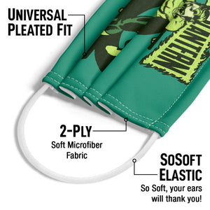 Green Lantern Retro Oath Adult Universal Pleated Fit, 2-Ply, SoSoft Elastic Earloops