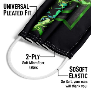 Green Lantern Fully Charged Lantern Adult Universal Pleated Fit, 2-Ply, SoSoft Elastic Earloops