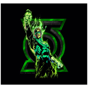 Green Lantern Fully Charged Lantern Adult Mask Design Full View