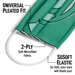 Green Lantern Hand Me Down Adult Universal Pleated Fit, 2-Ply, SoSoft Elastic Earloops