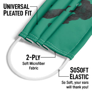 Green Lantern Knockout Adult Universal Pleated Fit, 2-Ply, SoSoft Elastic Earloops