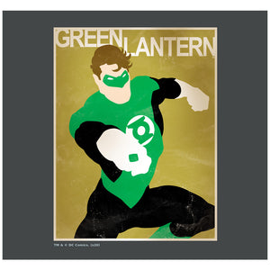 Green Lantern Simple Poster Adult Mask Design Full View