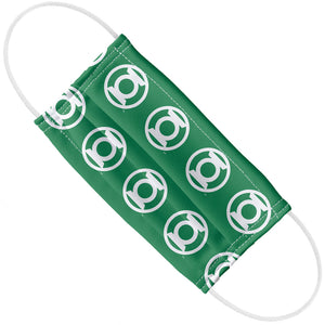 Load image into Gallery viewer, Green Lantern White Logo Pattern Adult Flat View
