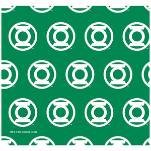 Load image into Gallery viewer, Green Lantern White Logo Pattern Adult Mask Design Full View