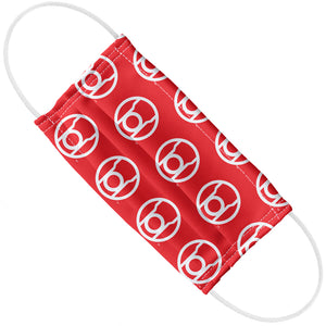 Load image into Gallery viewer, Green Lantern Blackest Night Red Lantern Logo Pattern Adult Flat View