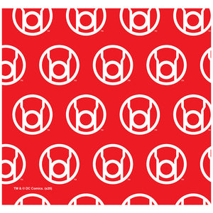 Green Lantern Blackest Night Red Lantern Logo Pattern Adult Mask Design Full View