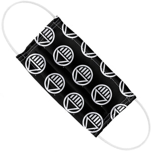Load image into Gallery viewer, Green Lantern Blackest Night Black Lantern Logo Pattern Adult Flat View