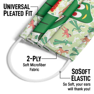 Gumby Friendly Greeting Adult Universal Pleated Fit, 2-Ply, SoSoft Elastic Earloops