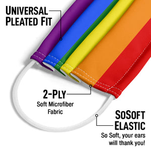 Pride Flag Adult Universal Pleated Fit, 2-Ply, SoSoft Elastic Earloops