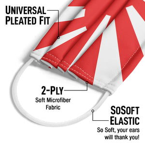 Rising Sun Flag Adult Universal Pleated Fit, 2-Ply, SoSoft Elastic Earloops
