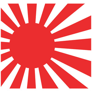 Load image into Gallery viewer, Rising Sun Flag Adult Mask Design Full View