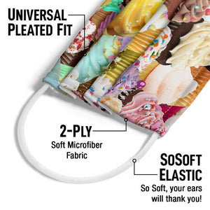 Cupcakes Adult Universal Pleated Fit, 2-Ply, SoSoft Elastic Earloops