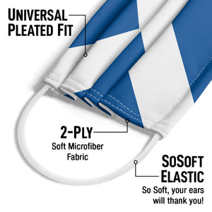 Load image into Gallery viewer, Scotland Flag Adult Universal Pleated Fit, 2-Ply, SoSoft Elastic Earloops