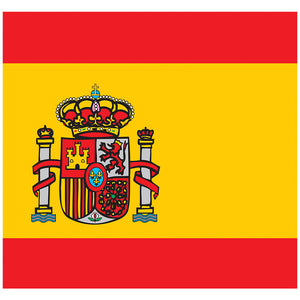 Load image into Gallery viewer, Spain Flag Adult Mask Design Full View