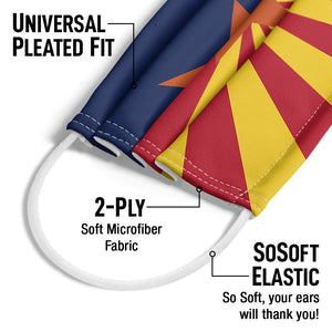 Arizona Flag Adult Universal Pleated Fit, 2-Ply, SoSoft Elastic Earloops