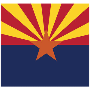 Load image into Gallery viewer, Arizona Flag Adult Mask Design Full View