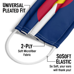 Colorado Flag Adult Universal Pleated Fit, 2-Ply, SoSoft Elastic Earloops