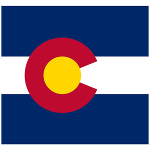 Colorado Flag Adult Mask Design Full View
