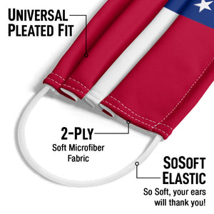 Georgia Flag Adult Universal Pleated Fit, 2-Ply, SoSoft Elastic Earloops